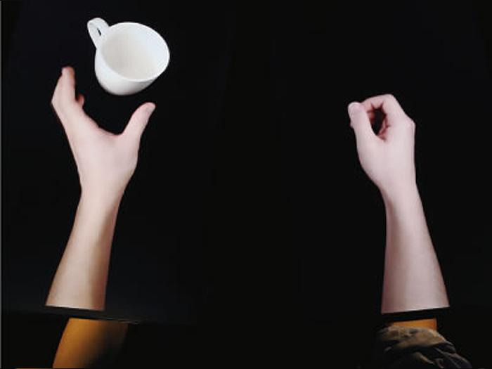 手のまひ治療 視覚誘導性自己運動錯覚療法